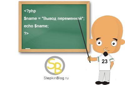 Вывод переменной и строки в php на экран. Основы PHP с нуля. Урок №6